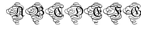 AristokratZierbuchstaben Sample