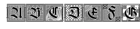 Holzschnitt-Initialen Sample