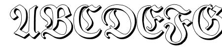 TypographerFrakturShadow Sample