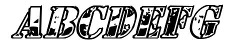 1st Cav Italic Sample