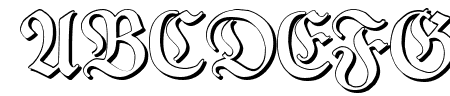TypographerFraktur Shadow Sample