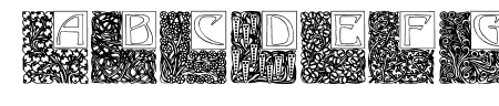 Art Nouveau Initials Sample