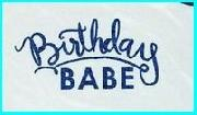 what font is birthday please
