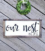 OUR NEST font