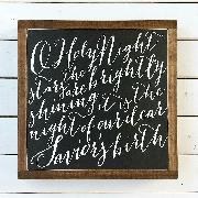 oh holy night script font