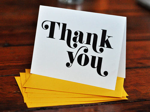 Thank You Card Font