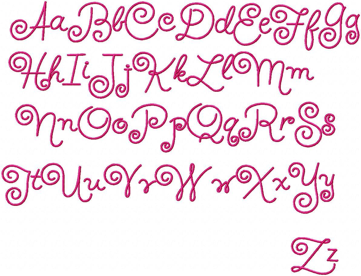 swirly writing alphabet for preschoolers