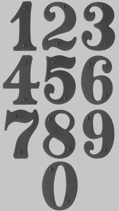 Western fonts numbers the image kid has it for Classic house number fonts