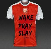 please whats the name of the font used in writting WAKE PRAY SLAY?