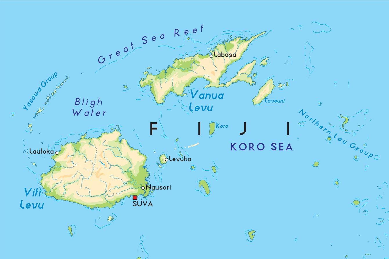 Где находится фиджи острова на карте мира